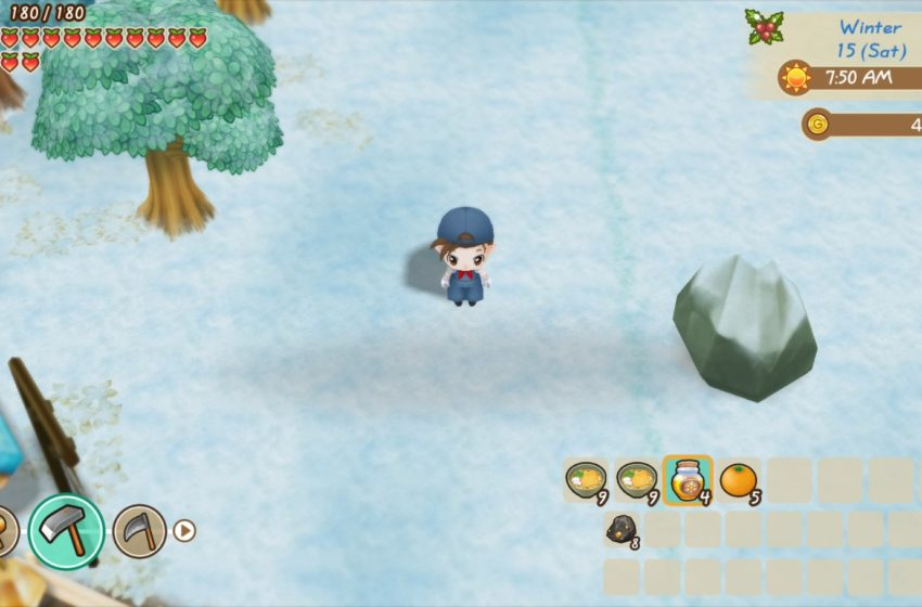 How to get Lumber and Stone in Story of Seasons: Friends of Mineral Town
