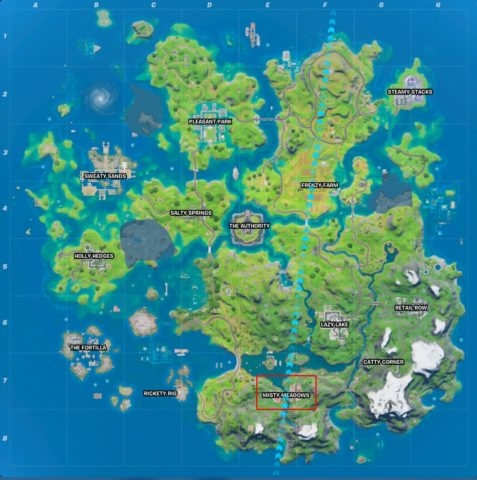 Misty Meadows Map