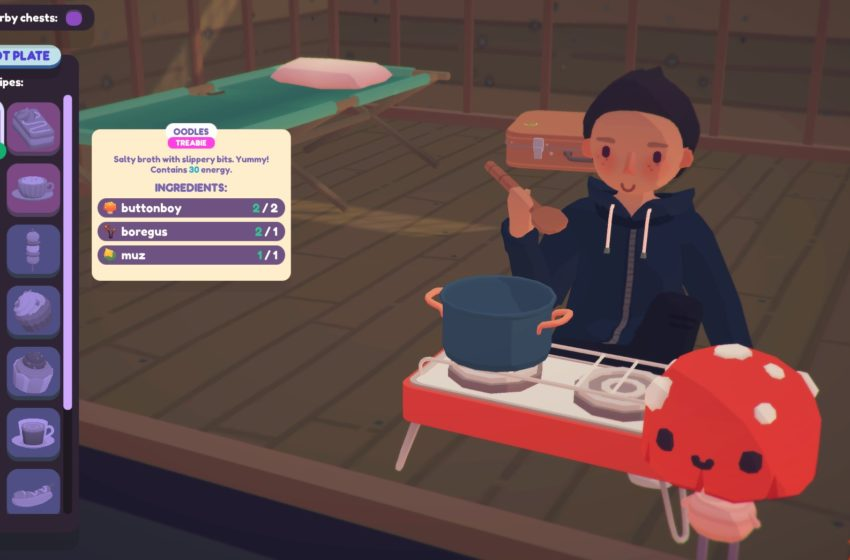 How does cooking work and where do you find recipes in Ooblets?