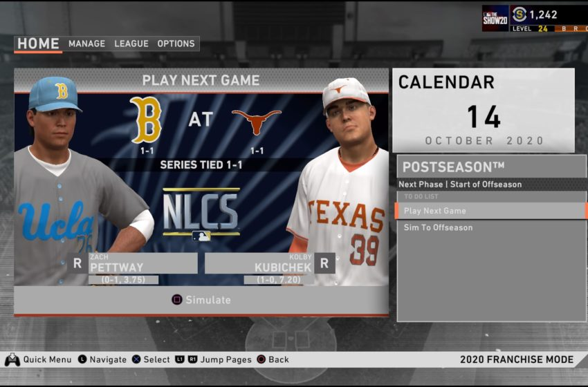 How to use college teams in Franchise Mode of MLB The Show 20