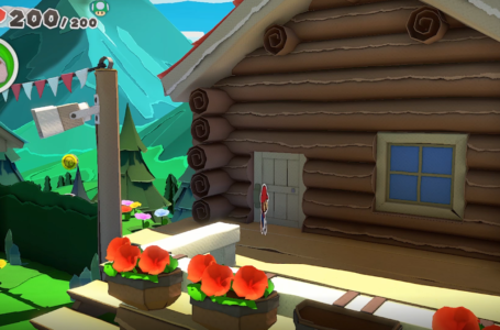 How to get into the Cabin in Whispering Woods in Paper Mario The Origami King