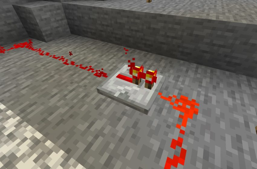 Redstone Repeater in action