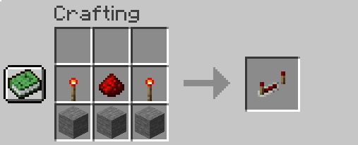 Crafting a Redstone Repeater