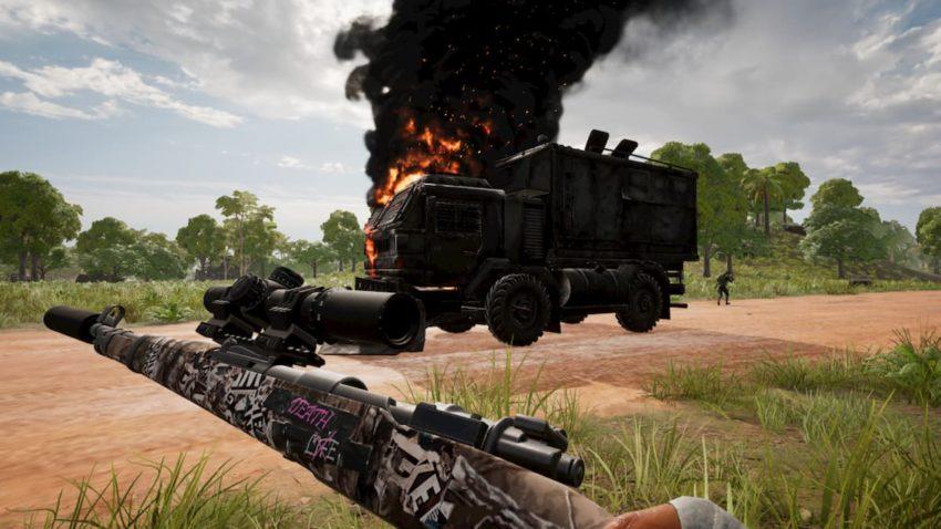pubg loot truck gunned down
