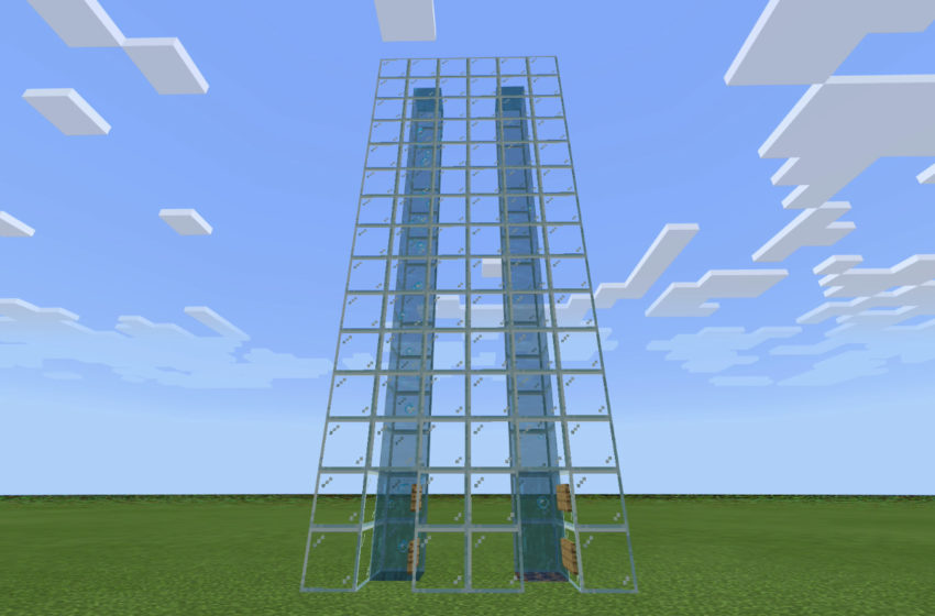 How to make an easy water elevator in Minecraft