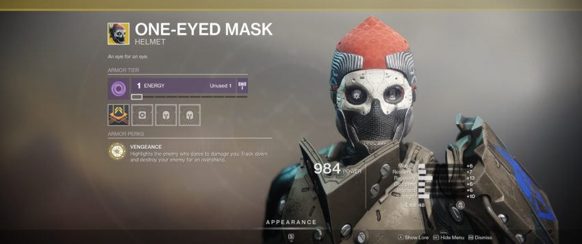 One-Eyed Mask