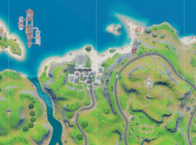 Spaceship part locations