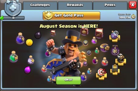 What's in the August 2020 Gold Pass in Clash of Clans?