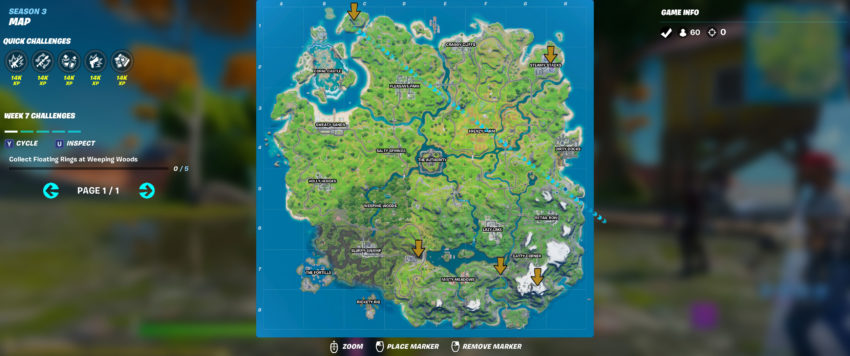 fortnite xp coin map