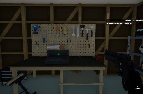 How to return tools to the pegboard in Kill It With Fire – Organize Tools objective