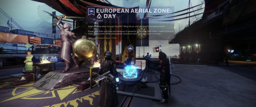The EAZ is a special area in Destiny 2 that is available during the Solstice of Heroes event. It is only available for this event, so if you are new t