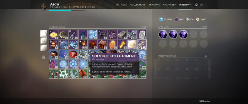 Key Fragments