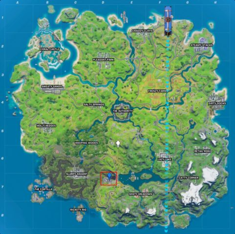 Hydro 16 location in Fortnite - where to collect metal at ...