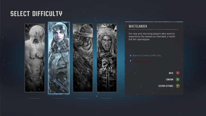 All difficulty options in Wasteland 3 explained