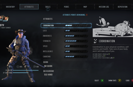 How to level up your Attributes in Wasteland 3