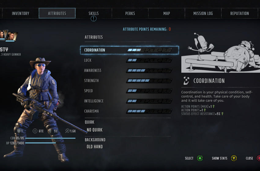 How to upgrade your Attributes in Wasteland 3