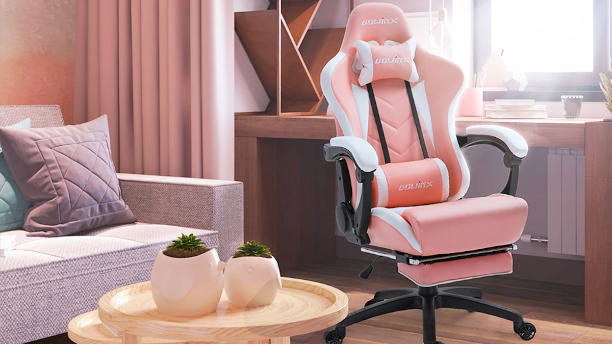 dowinx gaming chair pink