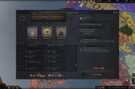 How to follow a faith in Crusader Kings 3, and how tenets and doctrines work