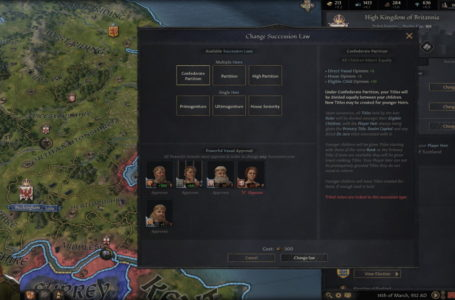 How do succession laws work in Crusader Kings 3?