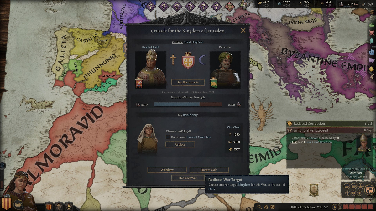 How do Crusades work in Crusader Kings 3