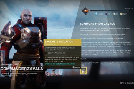 How to do the Exodus Evacuation quest in Destiny 2