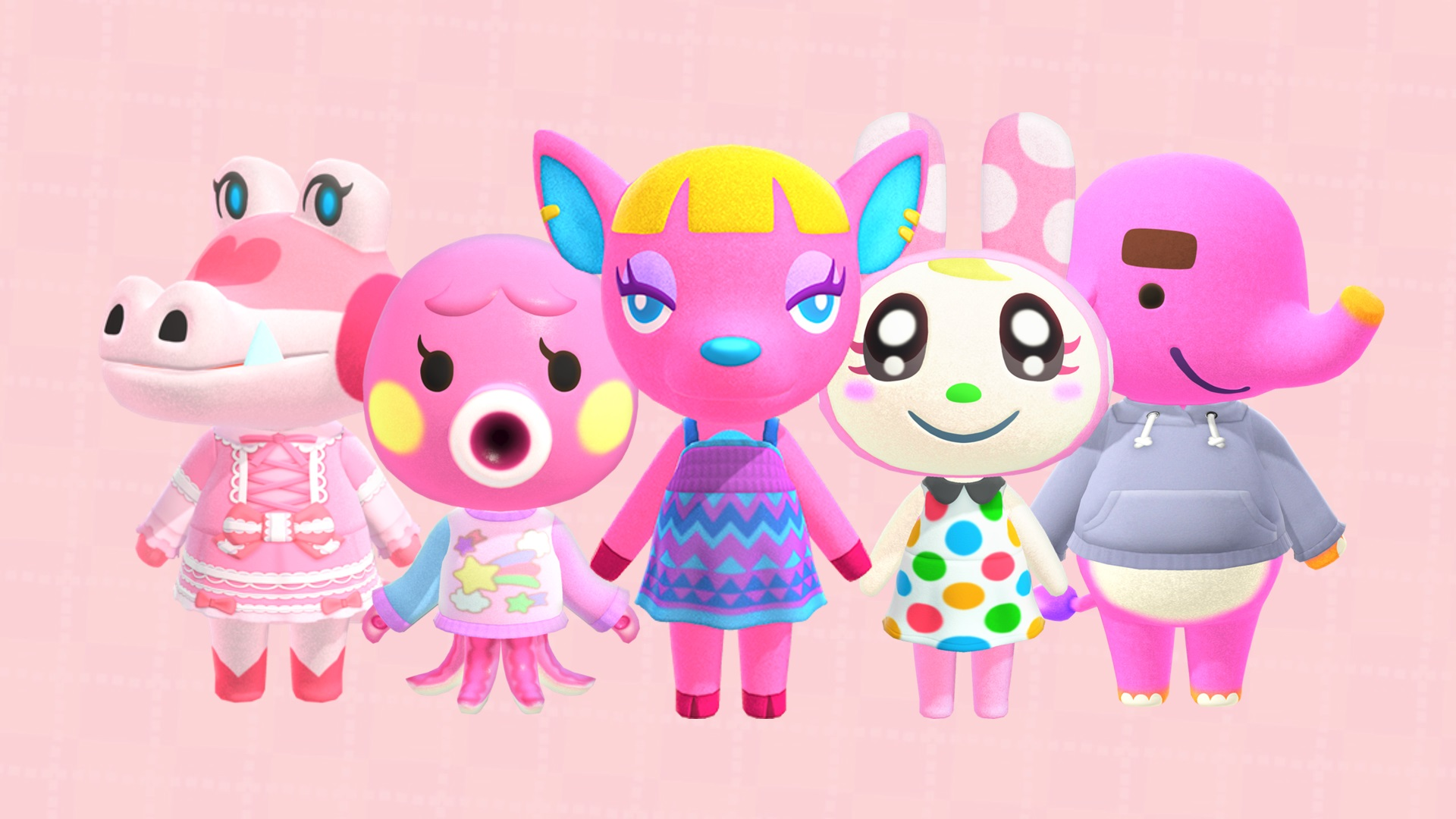 All pink villagers in Animal Crossing: New Horizons