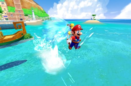 What are the controls for Super Mario Sunshine in Super Mario 3D All-Stars?