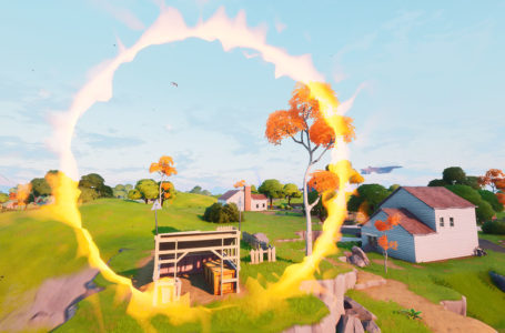 Where to jump through the flaming ring at Salty Springs in Fortnite Chapter 2 Season 4