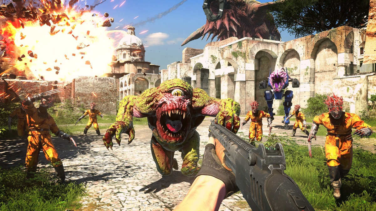 When is the exact release time for Serious Sam 4?