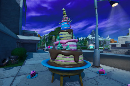 All ten Birthday Cakes locations in Fortnite Chapter 2 Season 4 – where to dance in front of different birthday cakes