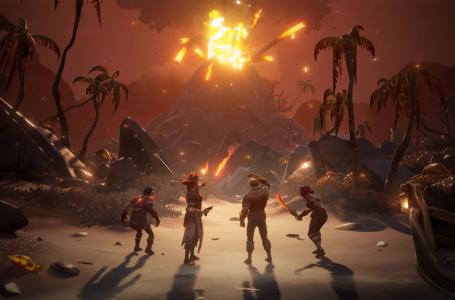 How to set a skeleton on fire in Sea of Thieves