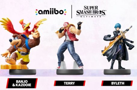 Nintendo tweets, then deletes, that Banjo-Kazooie, Terry, and Byleth amiibos are arriving fall 2021