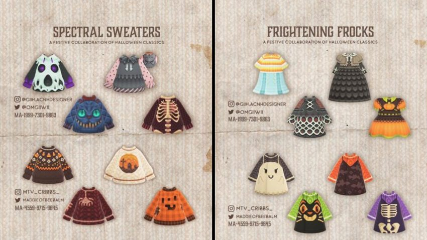Spectral Sweaters and Frightening Frocks