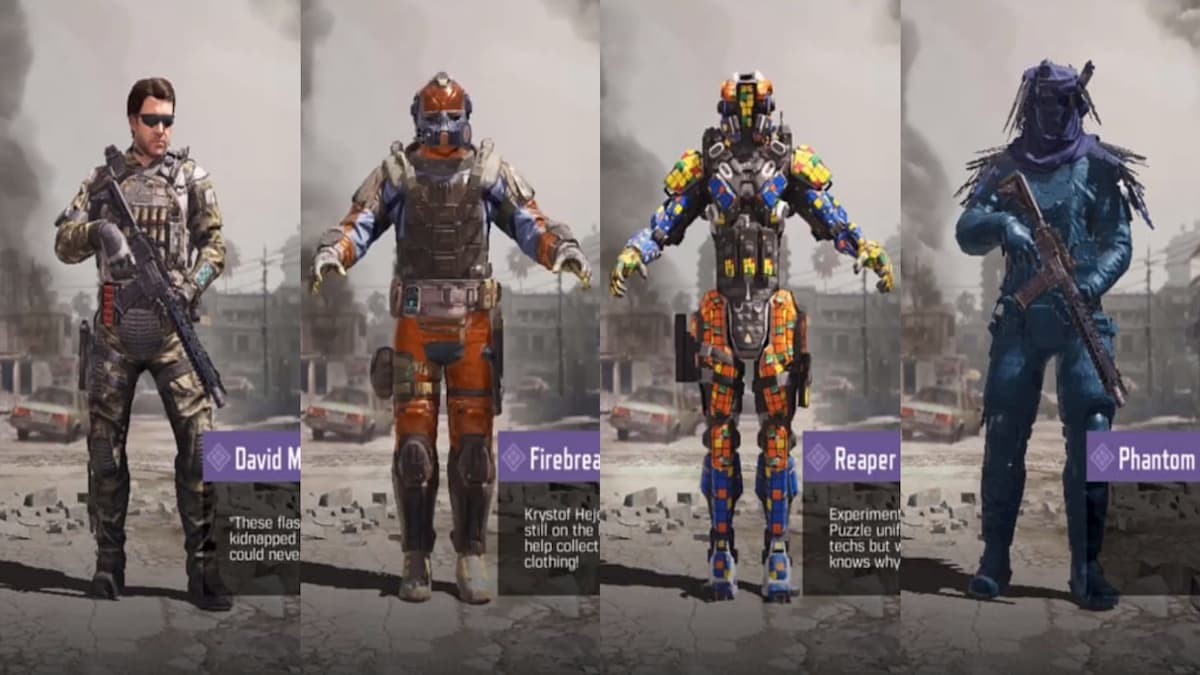 All characters in Call of Duty Mobile