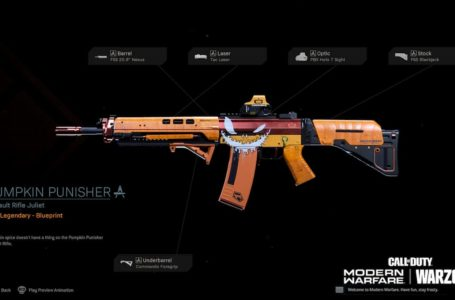 How to unlock the Pumpkin Punisher legendary assault rifle blueprint in Call of Duty: Warzone