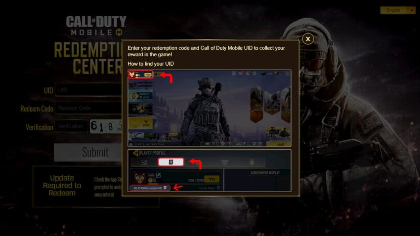 How to redeem codes from Call of Duty: Mobile redemption ...