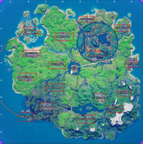 All named locations