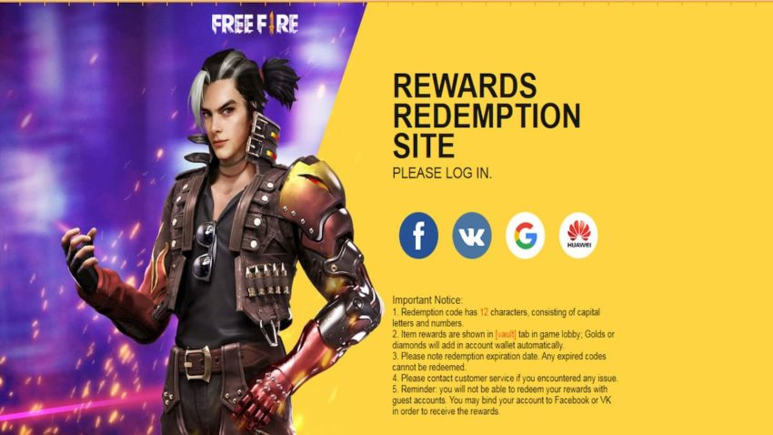 Garena Free Fire Redeem Codes January 2021 Gamepur