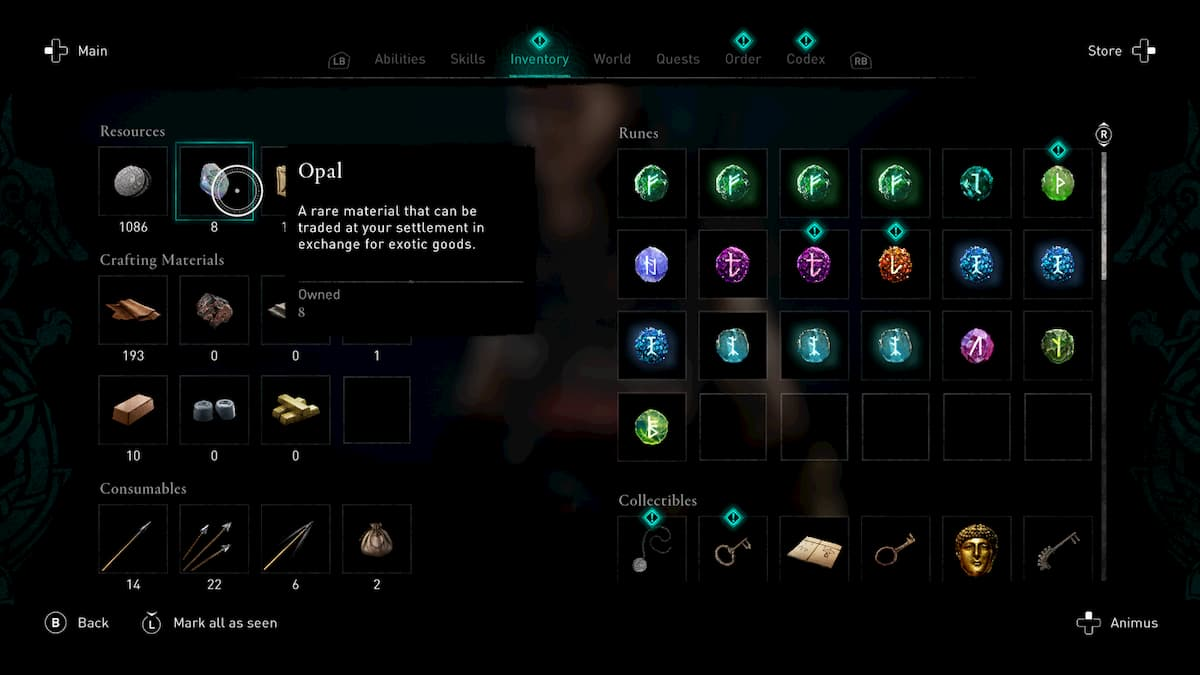 Opals inventory - Assassin's Creed Valhalla – Guida: Come trovare gli opali