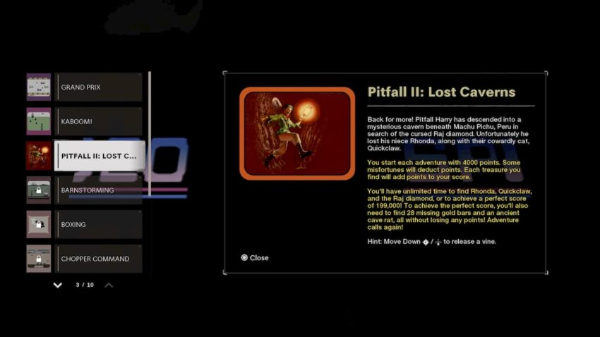 Call of Duty: Black Ops Cold War arcade Pitfall II