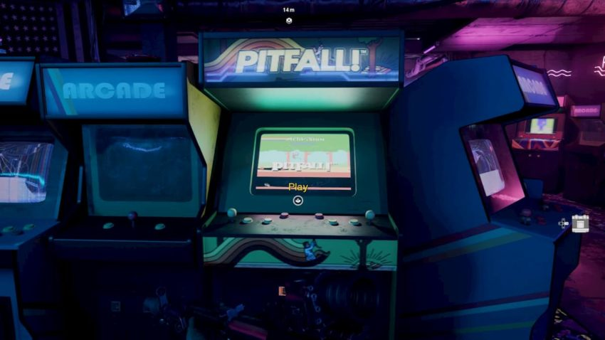 Call of Duty: Black Ops Cold War Pitfall arcade