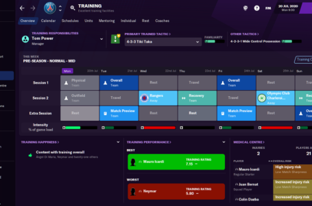 How to assign training to your staff in Football Manager 2021