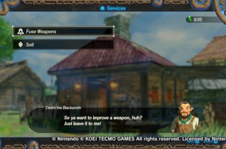 How fusing weapons works in Hyrule Warriors: Age of Calamity
