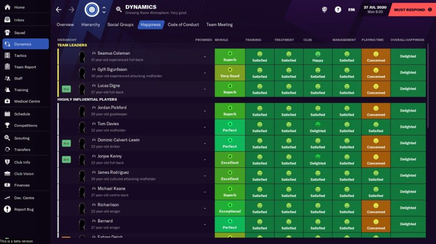 How to improve squad morale in Football Manager 2021