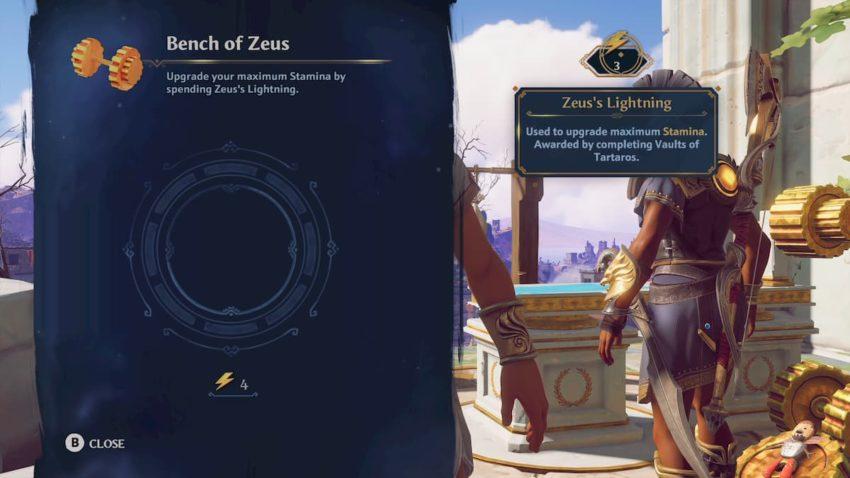 Bench of Zeus