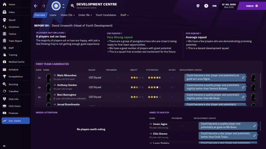 How to take charge of your youth teams in Football Manager 2021