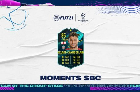 FIFA 21: How to complete UCL Moments Alex Oxlade-Chamberlain SBC