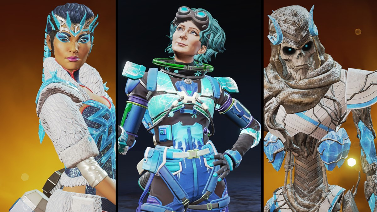 Horizon, Loba and Revenant in their new winter skins