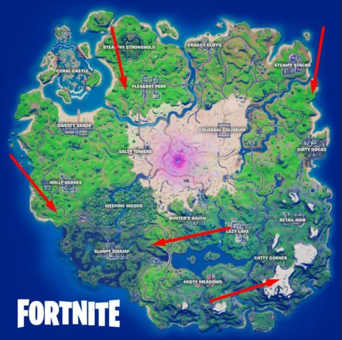 All Plane Locations
