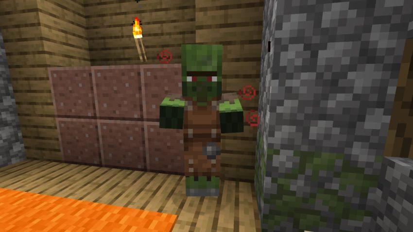 Zombie Villager being cured